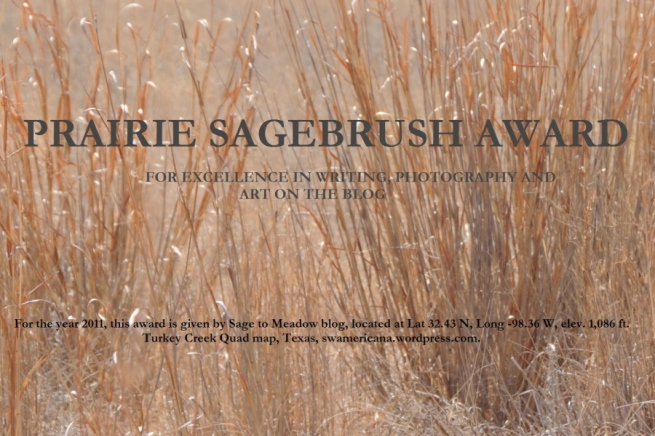 Prairie Sagebrush Award 2012