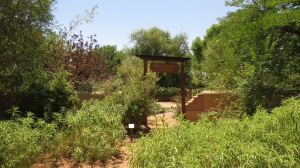 entrance to Traditions Garden at Open Space Visitor Center
