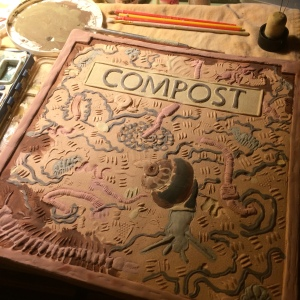 glazing Compost tile